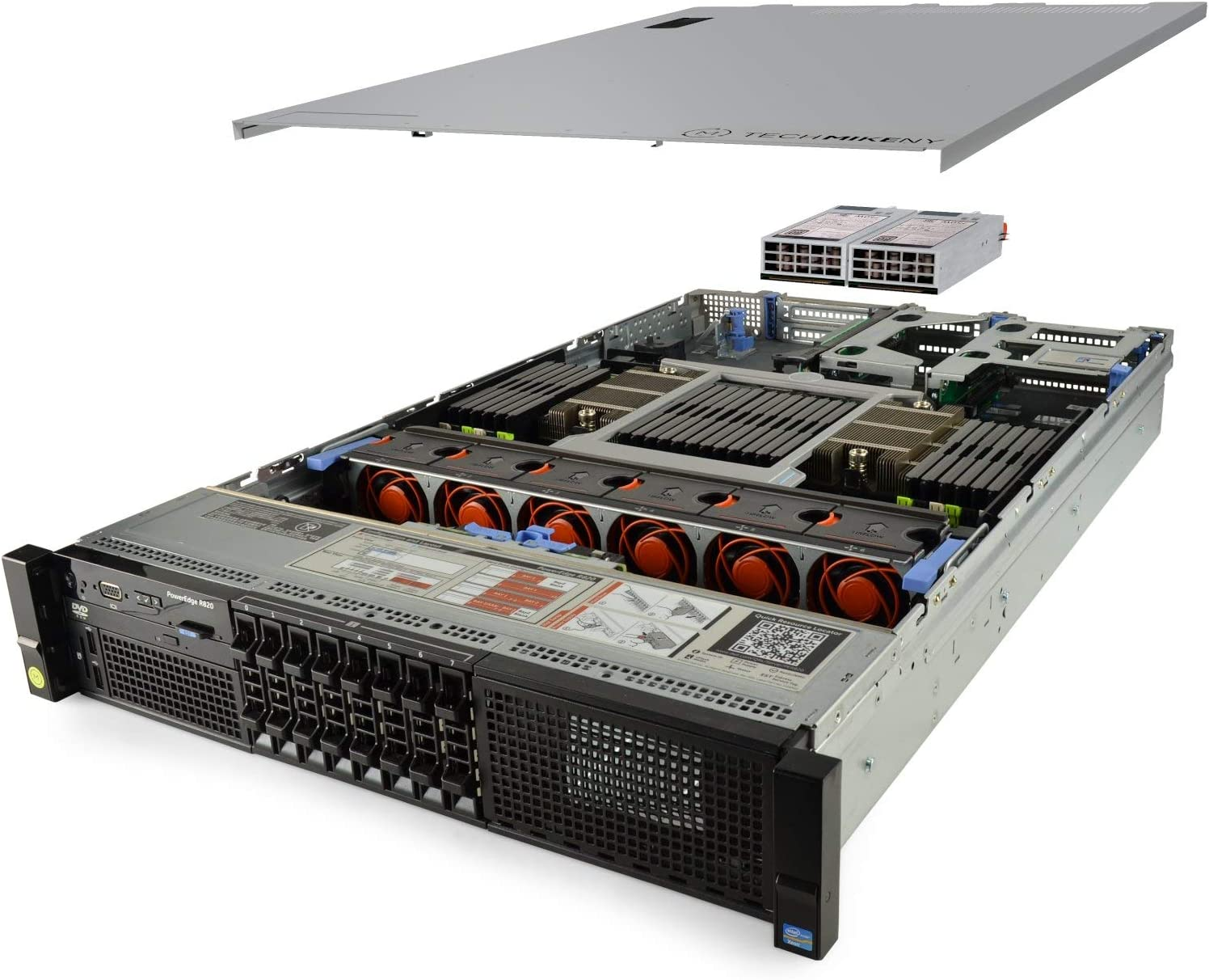 TechMikeNY Server 4X E5-4650v2 2.40Ghz 40-Core 512GB 2X 1TB SSD H710 PowerEdge R820 (Renewed)