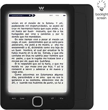 Woxter Scriba 195 Paperlight Black - Lector de libros electrónicos de 6