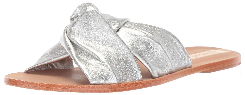 KAANAS Women's Belem Knot Flat Fashion Slide Sandal B076FLD3GR 8 B(M) US|Silver