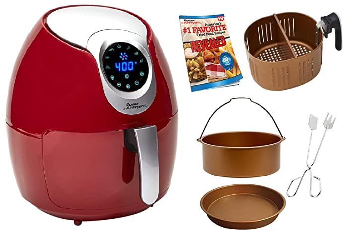 Power Air Fryer XL 3.4 QT Delux Red Air Fryer