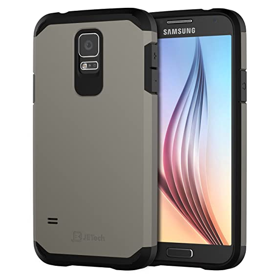 best website 39f73 1fddd JETech Case for Samsung Galaxy S5, Protective Cover, Grey