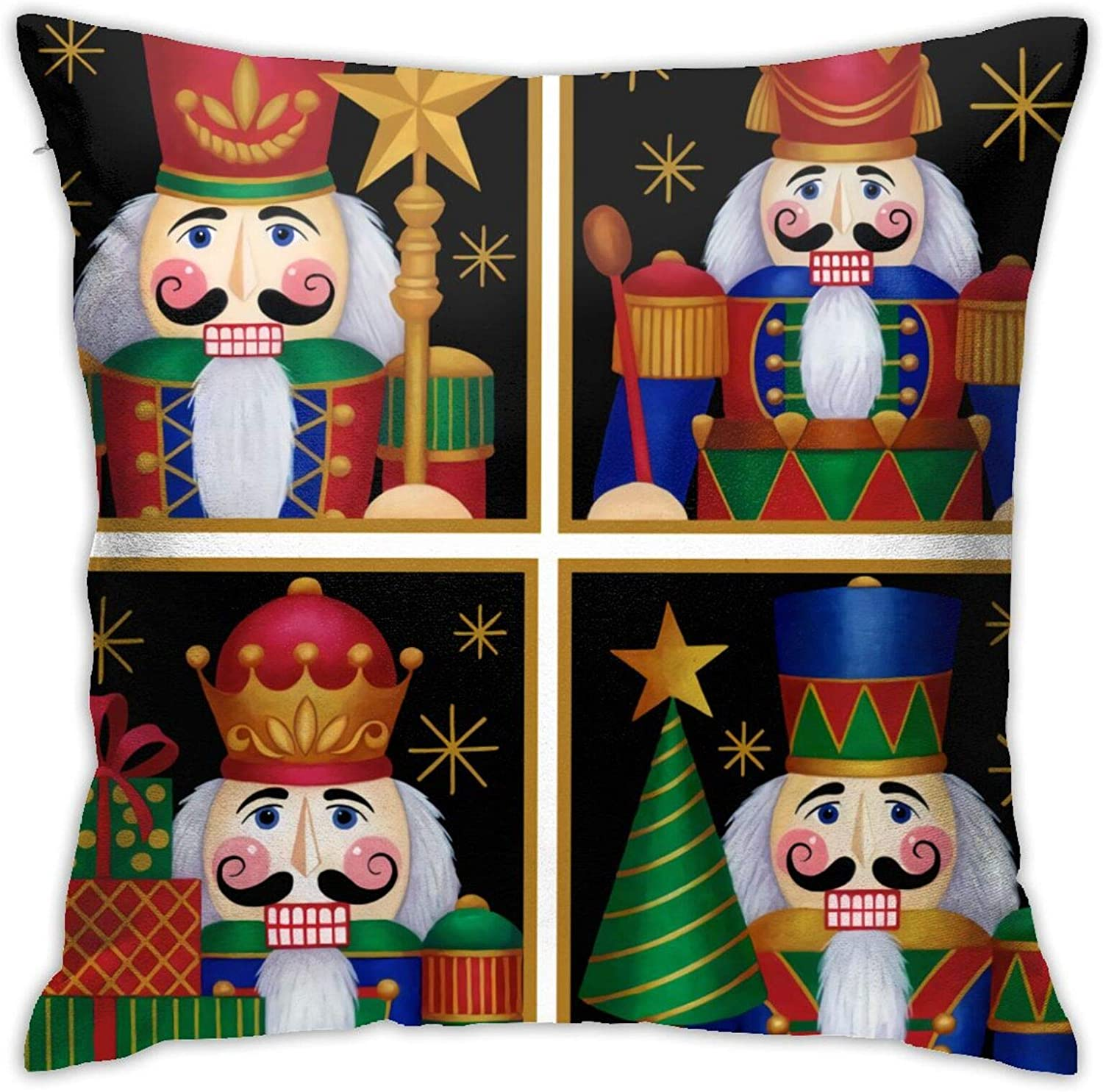 antoipyns Best Nutcrackers 3D Printed Pattern Square Cushiondecorative Pillow Case Home Decor Square 18x18 Inches Pillowcase/Living Room/Car/Bedroom