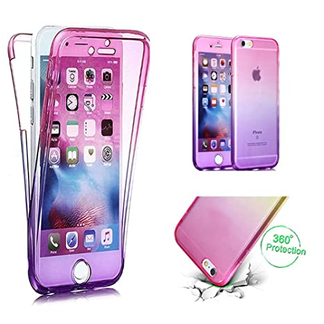 Coque Pour Iphone 7 Plus 8 Plus Cestor 2 En 1 Cristal Transparent