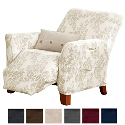 Amazing Great Bay Home Modern Velvet Plush Strapless Slipcover Form Fit Stretch Stylish Furniture Cover Protector Gale Collection Brand Recliner Toile Gmtry Best Dining Table And Chair Ideas Images Gmtryco