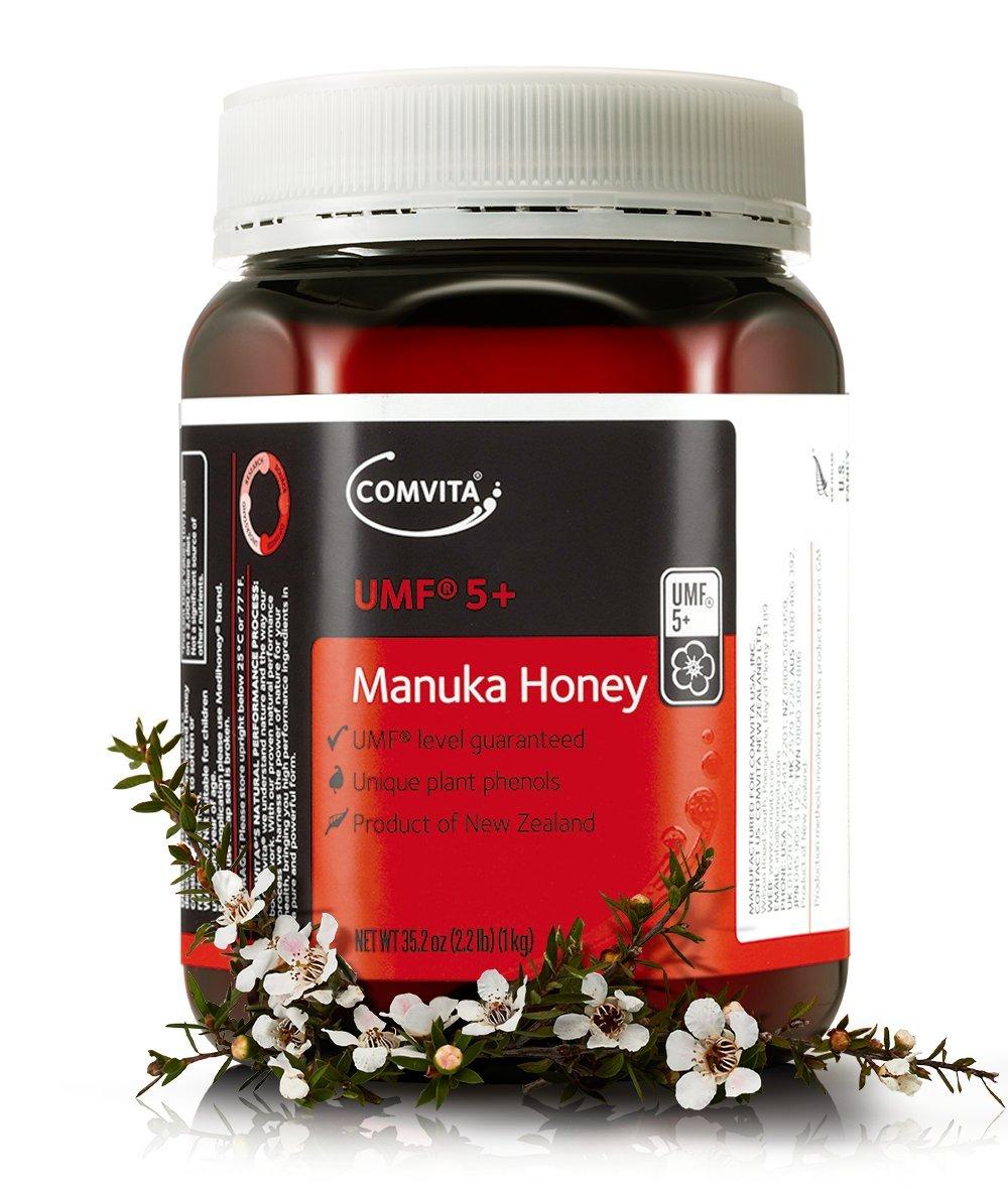 Comvita Certified UMF 5+ (Authentic) Manuka Honey I New Zealand's #1 Manuka Brand I Non-GMO, Halal, and Kosher Certified I 1kg (35.2oz), Best Value