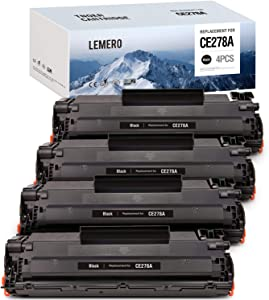 LEMERO Compatible Toner Cartridge Replacement for HP 78A CE278A to use with Laserjet Pro P1606dn 1606dn P1566 P1560 M1536dnf 1536dnf MFP (Black, 4-Pack)