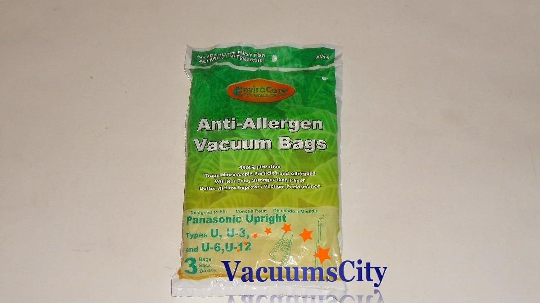 Panasonic Upright Anti-Allergen Type U, U-3, U-6, U-12 Bags 3 Pk Part # A816,816