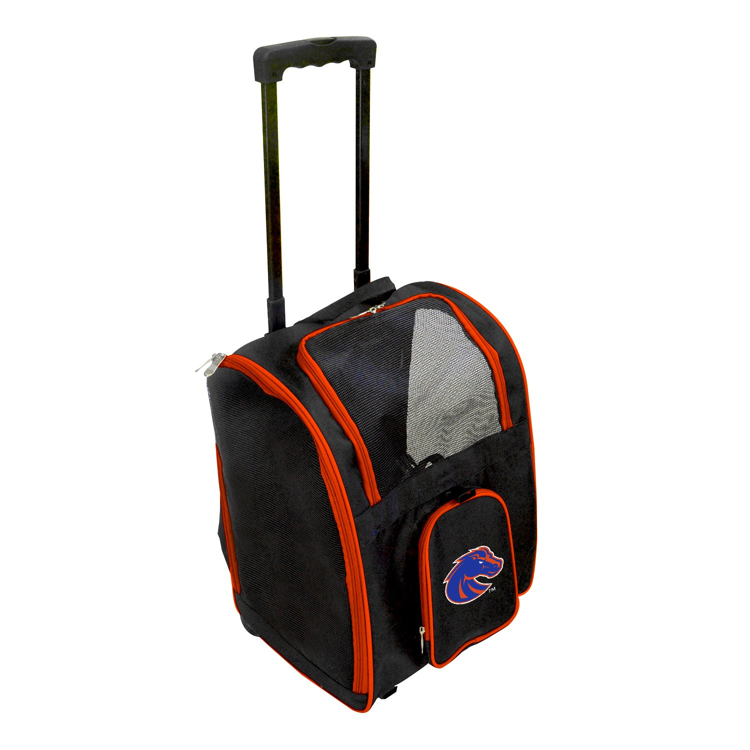 Denco NCAA Boise State Broncos Premium Wheeled Pet Carrier