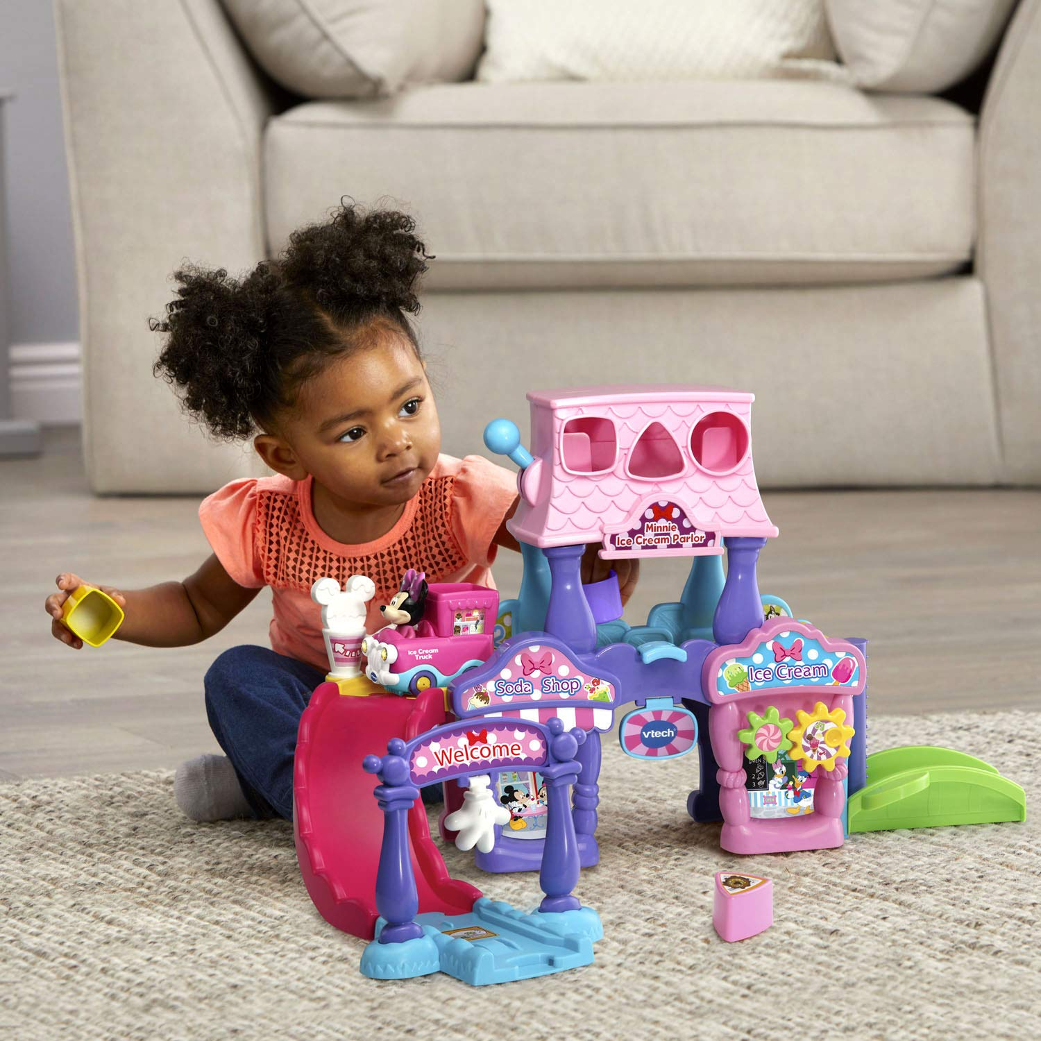 VTech Go! Go! Smart Wheels Minnie Mouse Ice Cream Parlor by VTech (Image #4)