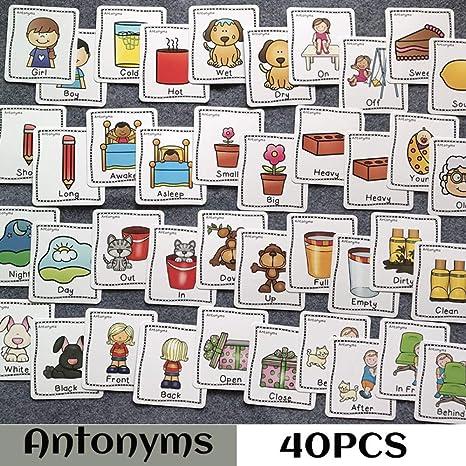 80PCS / Set Ocabulario Rico Sinónimos Antónimos Juegos de ...
