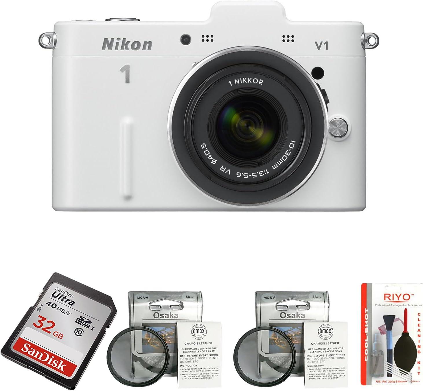 Nikon 1 V1 Systemkamera 3 Zoll Weiß Inkl 1 Nikkor Vr Kamera