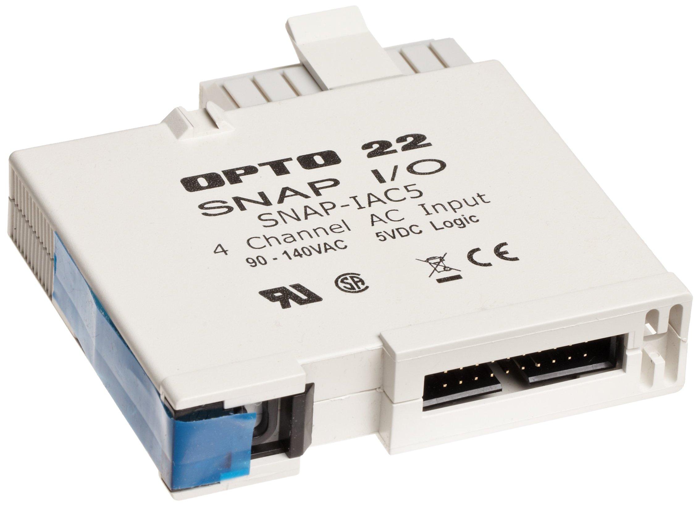 Opto 22 SNAP-IAC5 - SNAP Digital (Discrete) Input Module, 4-Channel, 90-140 VAC/VDC