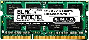 4GB RAM Memory for HP EliteBook 8540p Notebook Black Diamond Memory Module DDR3 SO-DIMM 204pin PC3-10600 1333MHz Upgrade