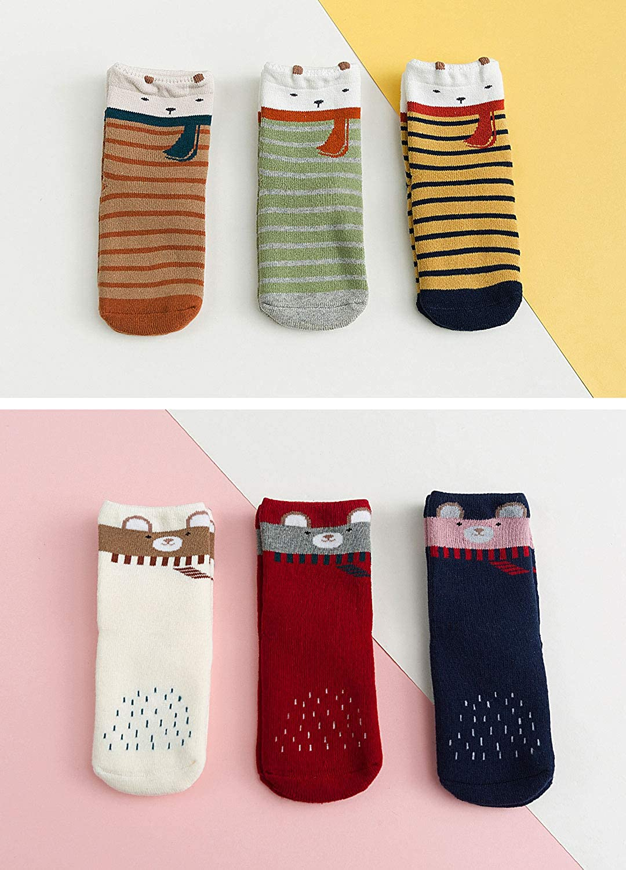 6 Paare LOFIR Dicke Kinder Socken aus Baumwoll Winter Warme Thermo Socken f/ür kleine M/ädchen Jungen Kleinkind Neuheit Socken Gr/ö/ße 20-34 f/ür 2-11 Jahre