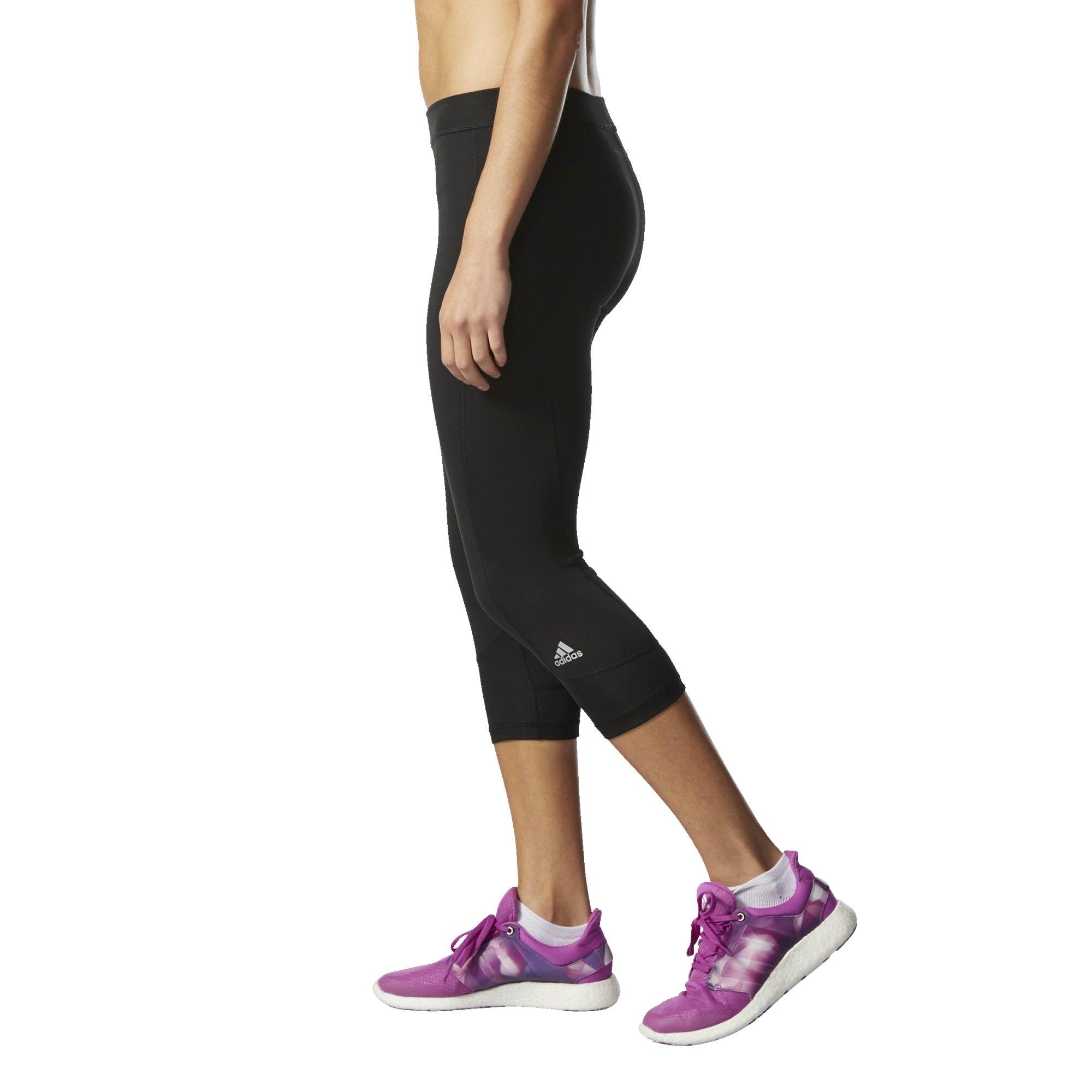 adidas Women's Techfit Capris, Black/Matte Silver, X-Small
