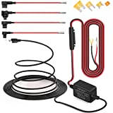 Dash Cam Hardwire Kit, Micro USB Port, DC 12V - 24V to 5V/2A Max Car Charger Cable kit with Fuse, Low Voltage Protection…