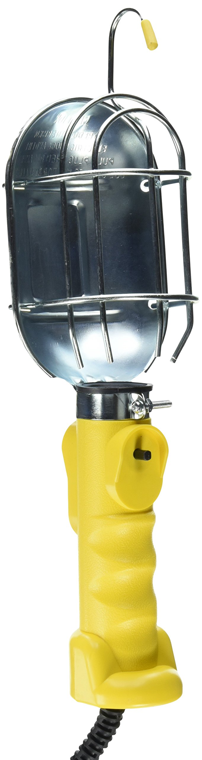 Bayco SL-425A Metal Shield Incandescent Utility Light with 16-Gauge Cord and Grounded Receptacle