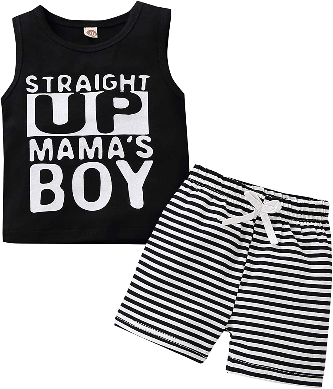 Jsmiten Kids 2 Pieces Shorts Set Baby Boy Summer Outfit Set Holiday Clothes Set