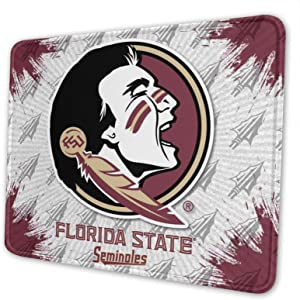 FSU Square Mouse Pad Non-Slip Rubber Base Mousepads for Computers Laptop Office 10x12 Inch