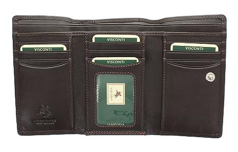 Portafoglio da Donna Flap Over in Pelle Visconti Collezione Heritage  PICCADILLY HT32 Cioccolato 288c056091f