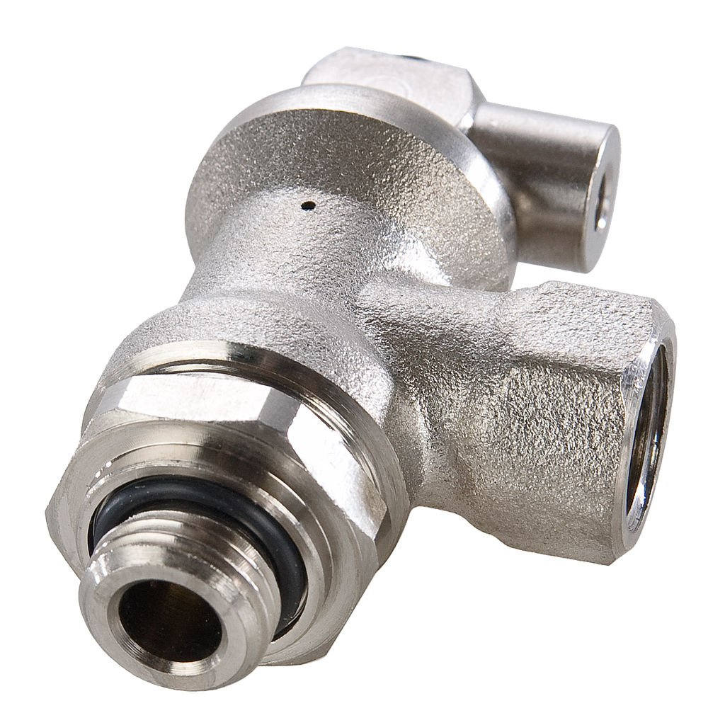 Treated Brass 1//4 1//4 Female BSPP and BSPP Threaded Port Female Pipe to Male Pipe Parker FC608-4G-4G Blocking Valve