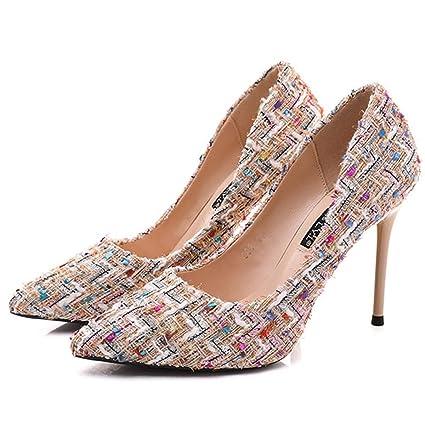 78e42ba4fca6f Amazon.com : GTVERNH Women's shoes/fashion/Fine With Sharp Pointed ...