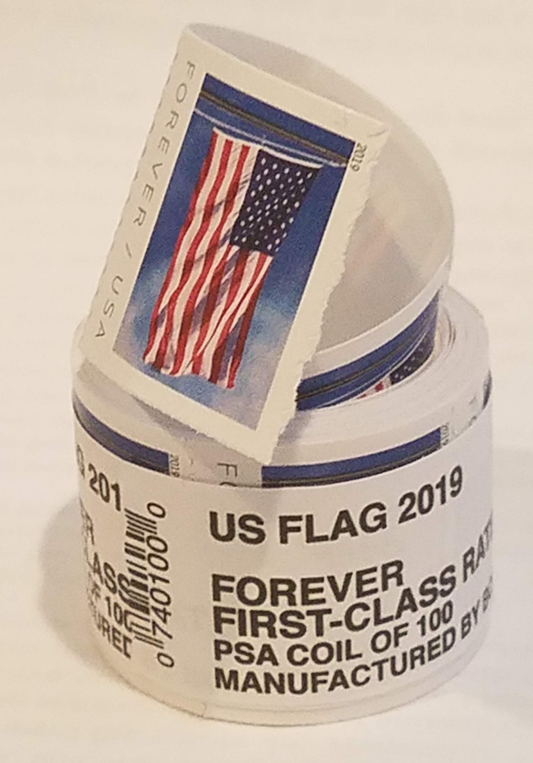USPS Forever Stamps Roll of 100 - 2019 Flag Version