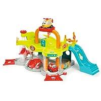 Smoby - 120402 - Vroom Planet - Premier Garage - + 1 Voiture et + 1 Hélicoptère Inclus