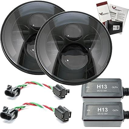 amazon com eagle lights 7 round jeep led generation i projection