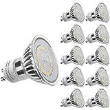 LE Lot de 10 Ampoules LED GU10 3.5W MR16, Équivalent Ampoule Halogène 50W, 350lm, Lumière du Jour 6000K, 120° Larges Faisceaux