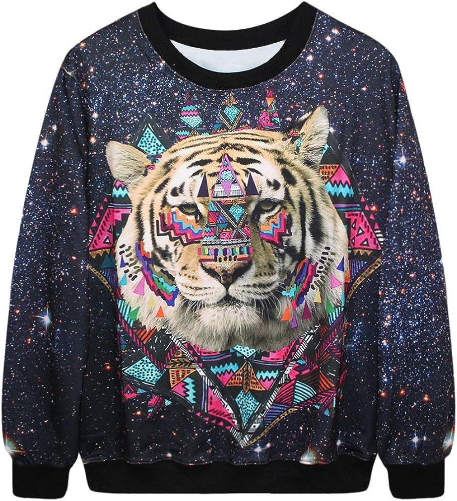 Erlking Womens Printing Hooded Pullovers Sweatshirts