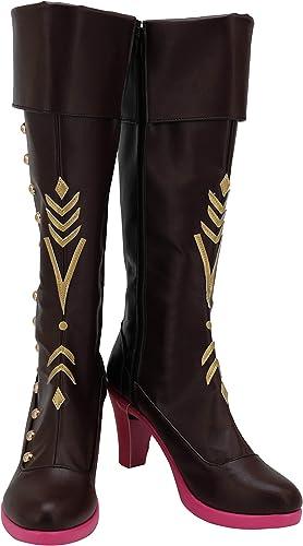 Ice Snow Princess Cosplay Shoes Costume Fashion High Heel Boots Custom Made
