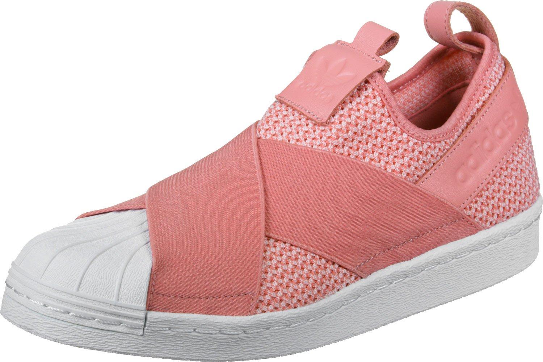 adidas Damen Superstar Slipon W Fitnessschuhe, Schwarz  40 EU|Rosa (Rostac/Rostac/Ftwbla)