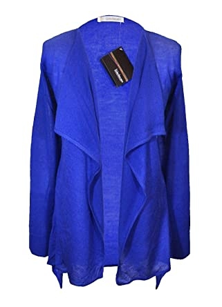 Womens Fine Knit Waterfall Cardigan Cobalt Blue New Ex-Catalogue ...