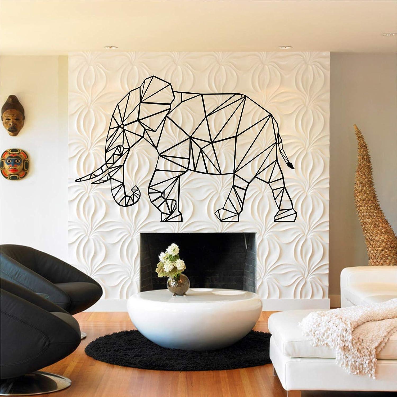 "Metal Wall Art, Geometric Metal Elephant, Metal Wall Decor, Interior Decoration, Living Room Decor, Animal Art, Wall Hangings (30""W x 20""H / 75x50cm)"