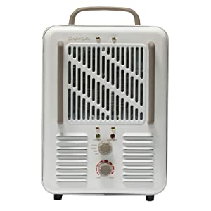 Comfort Glow EUH352 Milkhouse Style Electric Heater 3-prong Grounded Plug