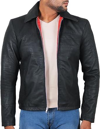 Black, Aviator Jacket Laverapelle Mens Genuine Lambskin Leather Jacket 1501214