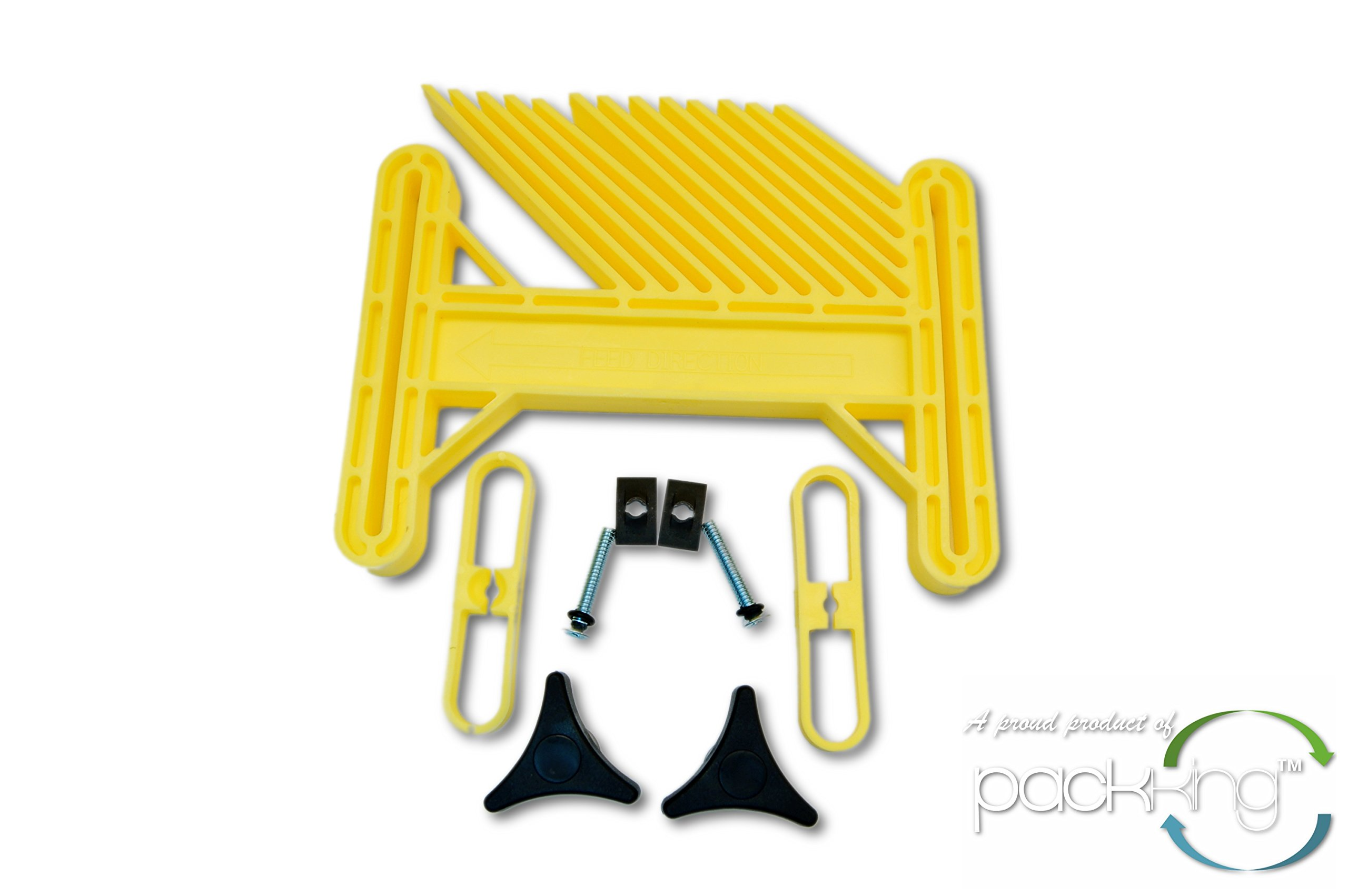 Big Horn 10215C - Deluxe Featherboard for Table Saw, Router Table, Shaper - Safety Yellow