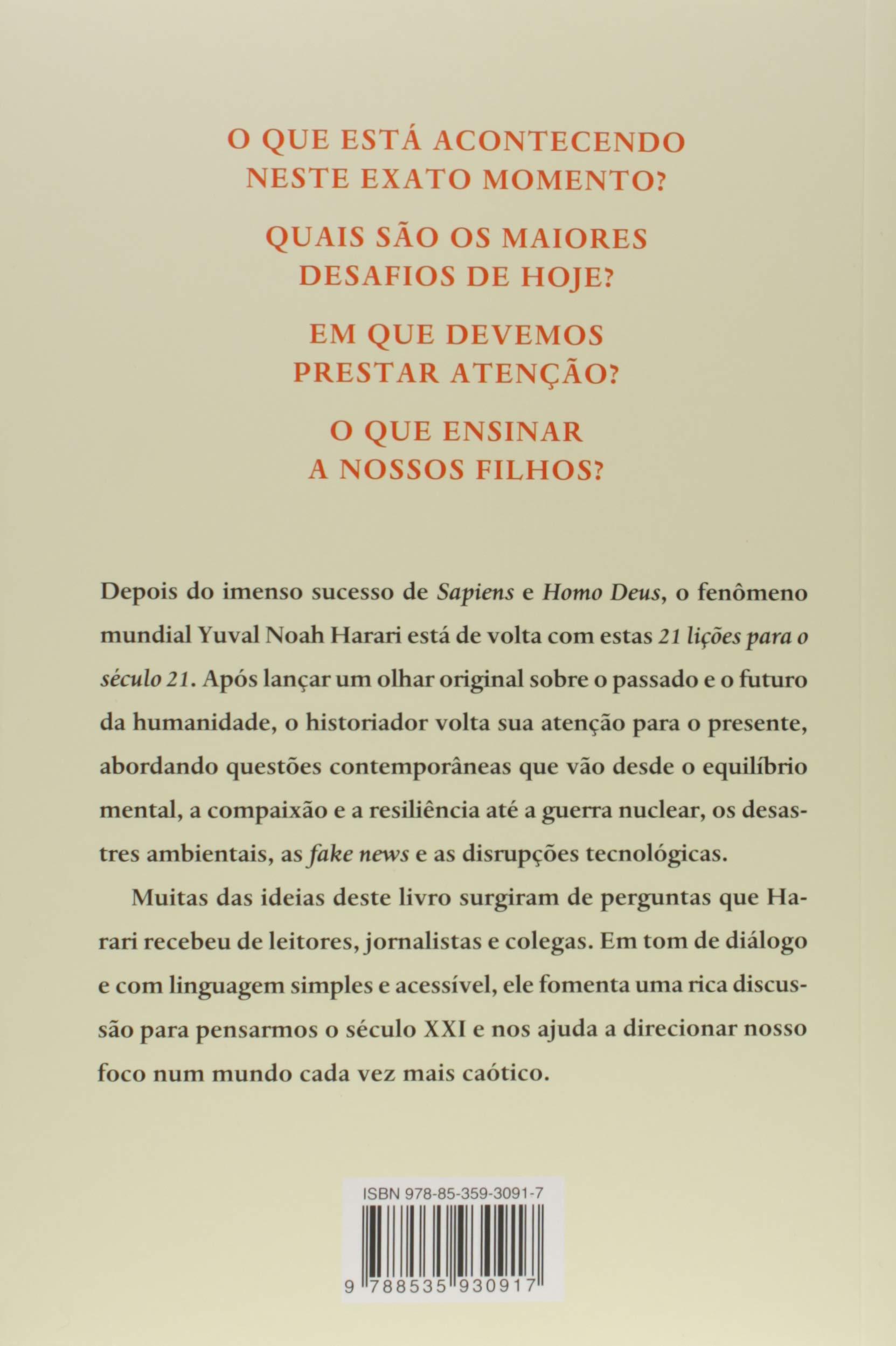21 Lições Para O Século 21 9788535930917 Livros Na Amazon Brasil
