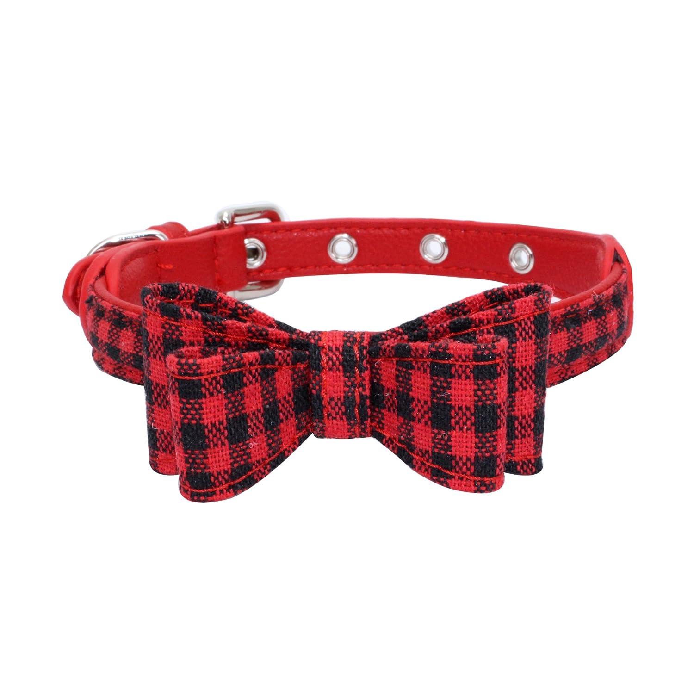F,XS 30×1.5(CM) Pet Online Pet Collar Fashion Snowflake Bow Decoration Butterfly Tough high Waterproof Dog Collar,F,XS 30×1.5(cm)
