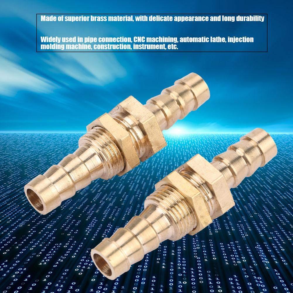 Akozon 2 piezas Doble Intubacion Lat/ón Adaptador de Conector 6mm
