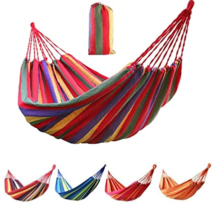 Veena 120Kg Blue with Mosquito Net 120600Kg Portable Cotton Fabric Hammock Air Chair Bed Hanging Swinging Camping