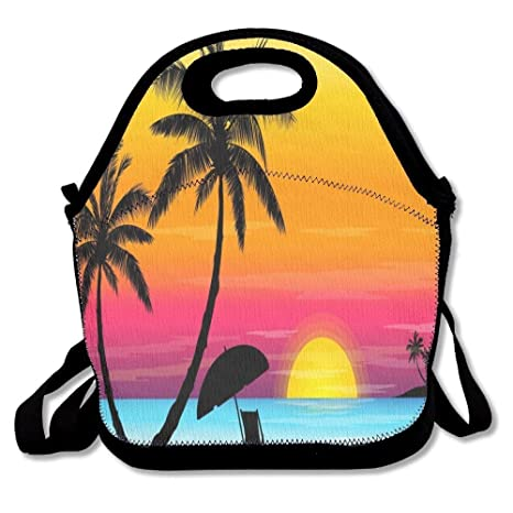 Dozili Palm Tree Sunset - Bolsas de almuerzo de neopreno ...