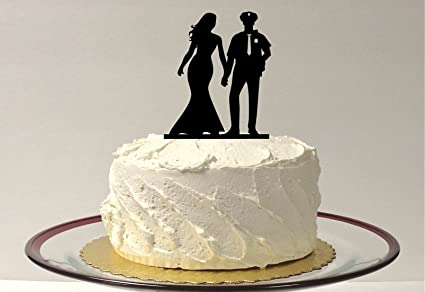 Amazon.com: Policeman And Bride Wedding Cake Topper Police Officer ...