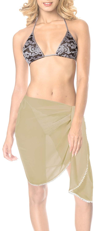 6b775449bb6d88 LA LEELA festen normalen Lichtfarbe Chiffon Schiere Strand Schwimmen Bikini  Rock Khakhi TGZYBCai 85%OFF · gaddrt Bikini Set Frauen Gepolsterter ...