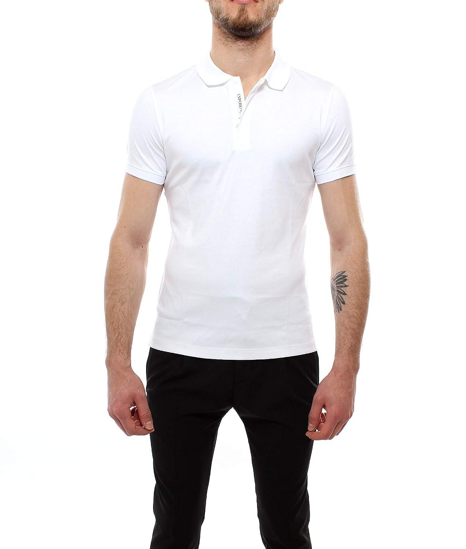 Emporio Armani Hombre 3G1F86 Manga Corta Camisa Polo - Blanco - XX ...