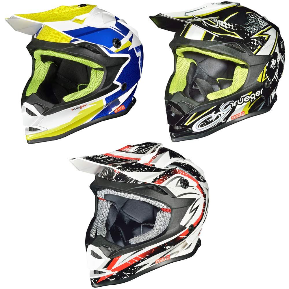 XS 51//52cm, Schwarz ATO-Helme Kids Pro Kinderhelm Crosshelm Schutzhelm Motorradhelm Quadhelm Kinder Cross BMX Helm