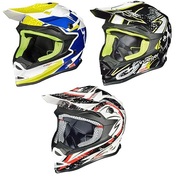 RK-652 Kinder Crosshelm Endurohelm Motorradhelm Roller Quad Helm Kinderhelm, Farbe:White Storm, Größe:XXXS (49-50)