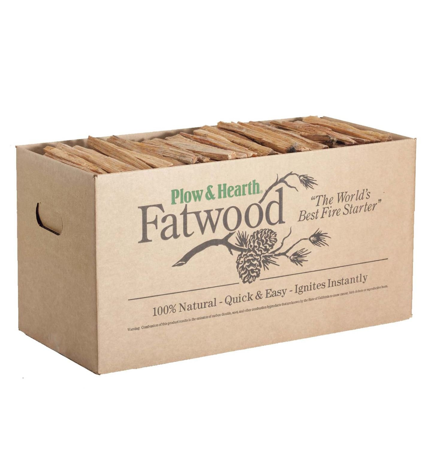 Plow & Hearth Fatwood Fire-Starter, 40 lb. Box by Plow & Hearth