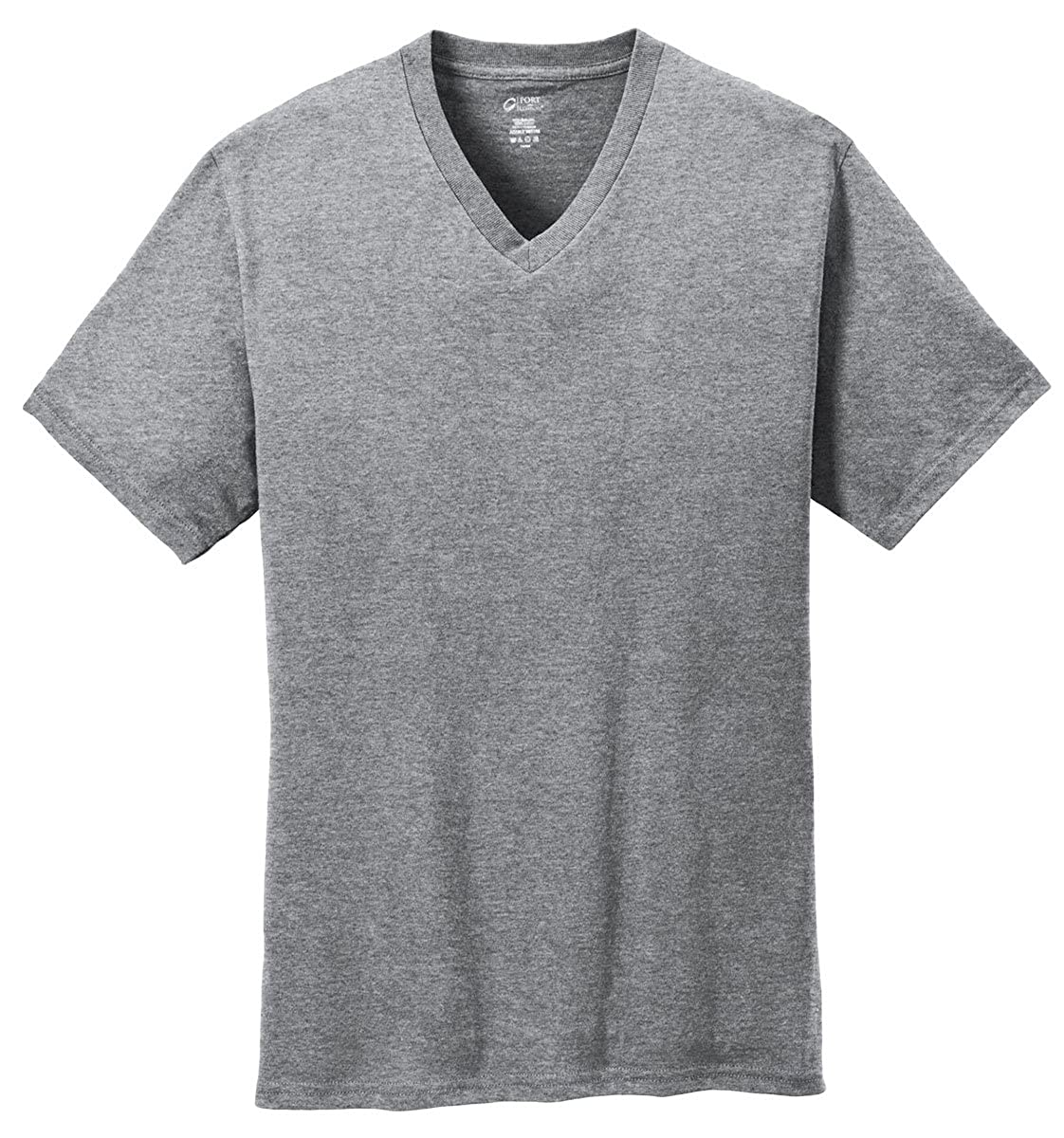 Port /& Company 5.4-oz 100/% Cotton V-Neck T-Shirt Athletic Heather PC54V